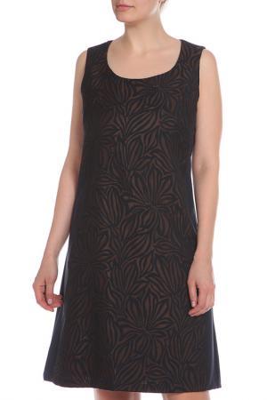 Платье Elena Miro. Цвет: синий, коричневый, принт