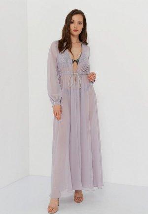 Платье пляжное Galaberano. Цвет: серый