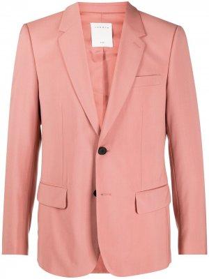 Строгий костюм Sandro Paris. Цвет: розовый