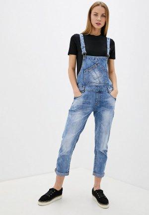 Комбинезон джинсовый Pavli. Цвет: голубой