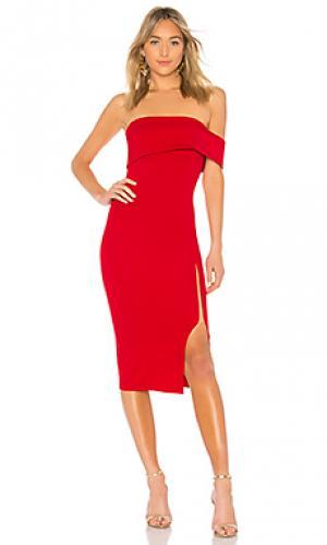 Платье со спущенными плечами ansley Michael Costello. Цвет: красный