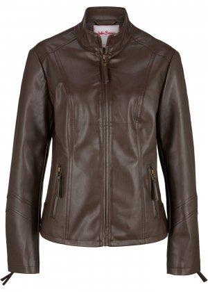 Куртка из искусственной кожи bonprix. Цвет: корич-невый