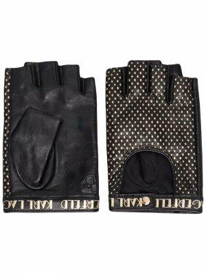 Перчатки K/Ikonik Karl Lagerfeld. Цвет: черный