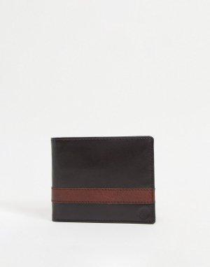 Кожаный бумажник -Коричневый цвет Silver Street