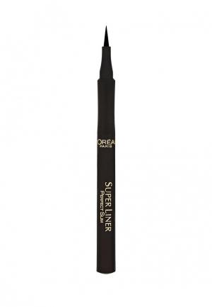Подводка для глаз LOreal Paris L'Oreal Perfect Slim, насыщенный черный, 1 мл. Цвет: черный