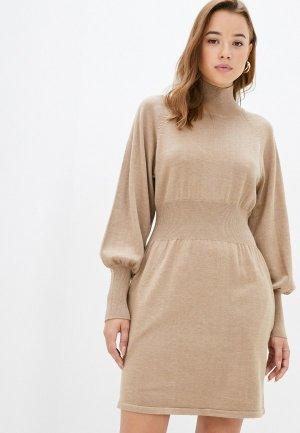 Платье Francesco Donni. Цвет: бежевый