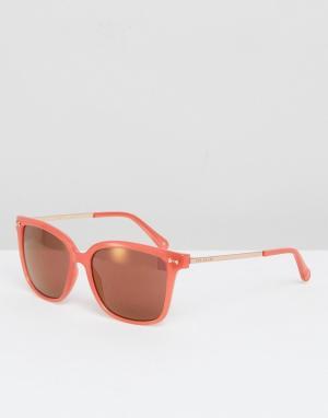 Розовые солнцезащитные очки Elin Ted Baker. Цвет: розовый