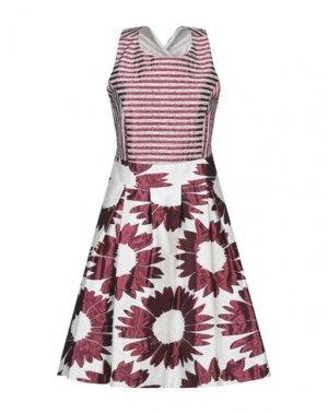 Платье до колена CARLA MONTANARINI. Цвет: пурпурный