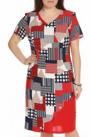 Платье CREDO. Цвет: красный