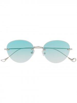 Солнцезащитные очки без оправы Eyepetizer. Цвет: серебристый