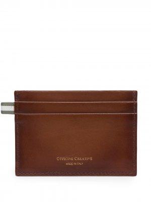 Картхолдер с логотипом Officine Creative. Цвет: коричневый