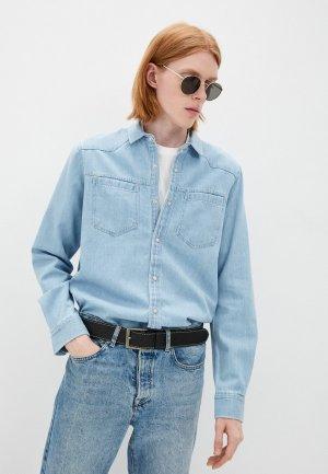 Рубашка джинсовая DeFacto. Цвет: голубой