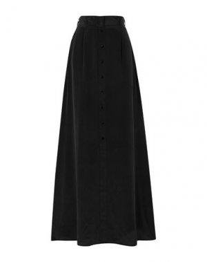Длинная юбка L'AGENCE. Цвет: черный