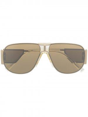 Солнцезащитные очки-авиаторы GV Mesh Givenchy Eyewear. Цвет: золотистый
