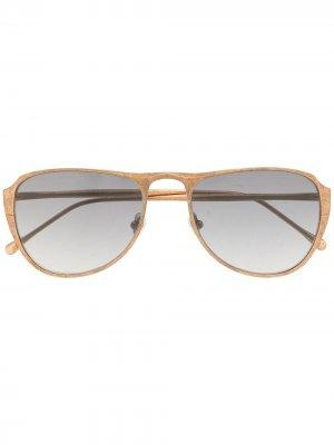 Солнцезащитные очки-авиаторы RG0100 Rigards. Цвет: золотистый