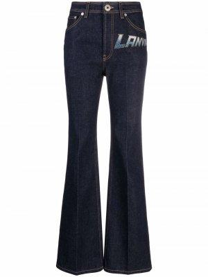 Прямые джинсы с логотипом LANVIN. Цвет: синий