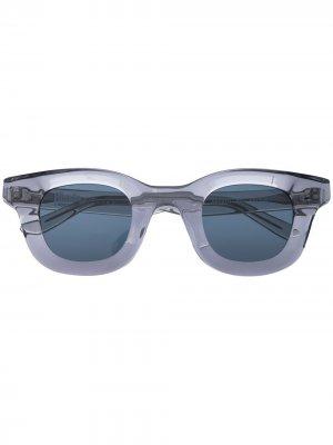 Солнцезащитные очки Rhodeo из коллаборации с Rhude Thierry Lasry. Цвет: синий