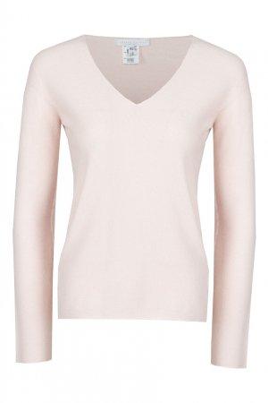 Розовый пуловер с разрезами по бокам Fabiana Filippi
