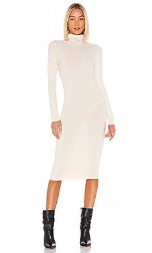 Вязаное платье pia NSF. Цвет: кремовый