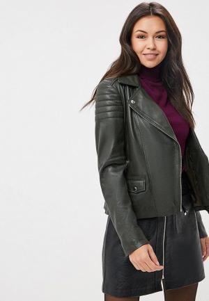 Куртка кожаная Arma Leslie. Цвет: хаки