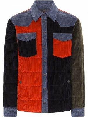 Куртка-рубашка в технике пэчворк Dolce & Gabbana. Цвет: синий