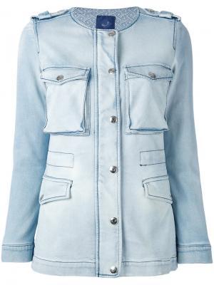 Джинсовая куртка с потертой отделкой Jacob Cohen. Цвет: синий