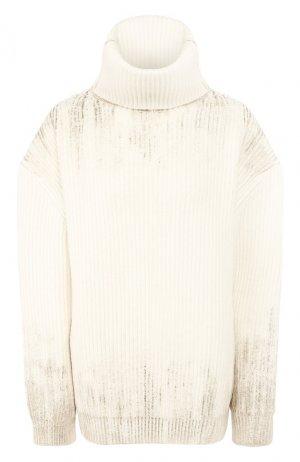 Шерстяной свитер Ann Demeulemeester. Цвет: белый