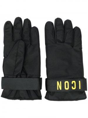 Перчатки с принтом Icon Dsquared2. Цвет: черный