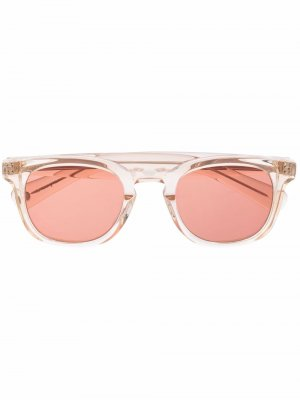 Солнцезащитные очки Kinney X в круглой оправе Garrett Leight. Цвет: розовый