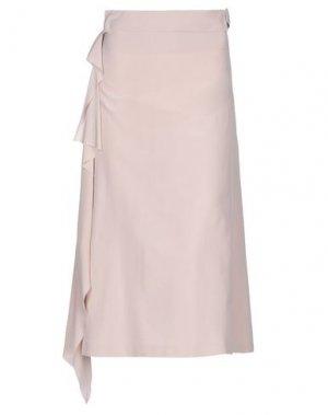 Длинная юбка MAISON FLÂNEUR. Цвет: голубиный серый
