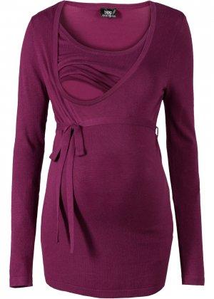 Пуловер bonprix. Цвет: лиловый