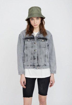 Куртка джинсовая Lime. Цвет: серый