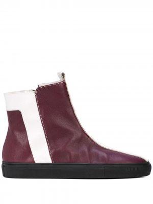 Striped ankle boots Alberto Fermani. Цвет: красный