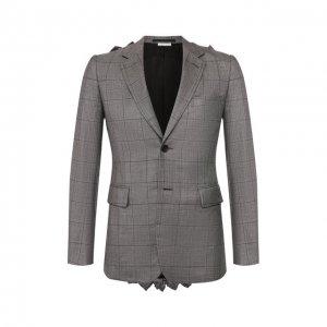 Шерстяной пиджак Comme Des Garcons Homme Plus. Цвет: серый