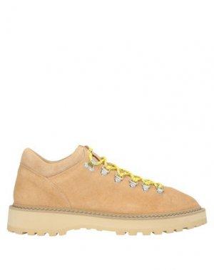 Полусапоги и высокие ботинки DIEMME. Цвет: бежевый