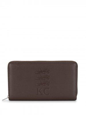 Кошелек с тиснением Kent & Curwen. Цвет: коричневый