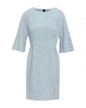 Короткое платье ADAM LIPPES. Цвет: небесно-голубой