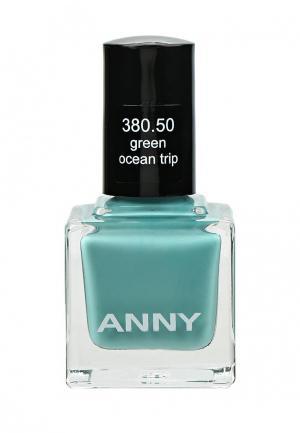 Лак для ногтей Anny тон 380.50 мятный. Цвет: бирюзовый