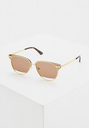 Очки солнцезащитные McQ Alexander McQueen MQ0233SA 002. Цвет: золотой
