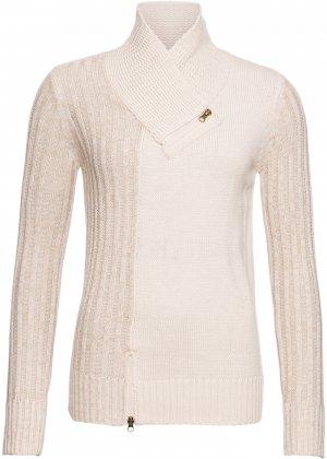 Пуловер с молниями bonprix. Цвет: серый