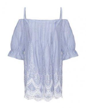 Блузка FLY GIRL. Цвет: лазурный