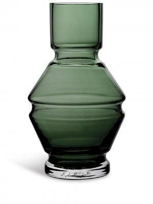 Стеклянная ваза Relæ (18 см) Raawi. Цвет: серый