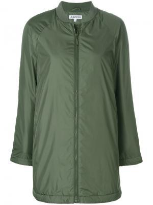 Куртка бомбер на молнии Aspesi. Цвет: зелёный