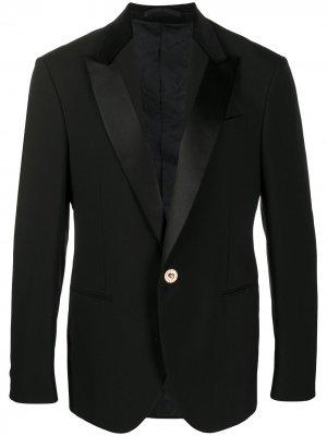 Однобортный пиджак Versace. Цвет: черный