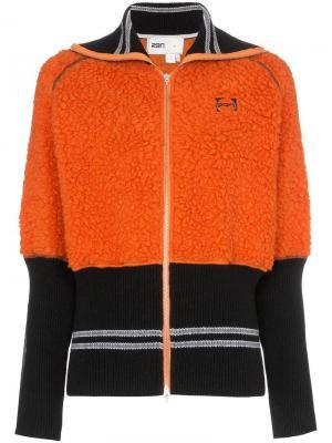 Куртка-бомбер X RBN на молнии с флисовыми вставками Bjorn Borg. Цвет: оранжевый