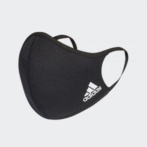 Набор из трех масок на лицо XS/S Athletics adidas. Цвет: черный