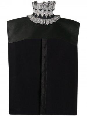 Кейп с вышивкой Paco Rabanne. Цвет: черный