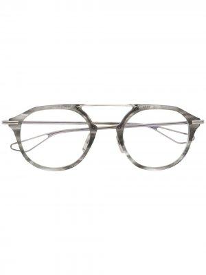 Очки в оправе с мраморным эффектом Dita Eyewear. Цвет: серый