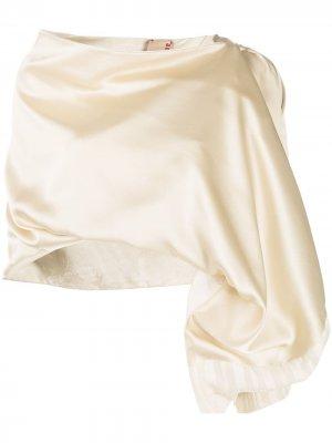 Draped jacquard shawl Antonio Marras. Цвет: нейтральные цвета