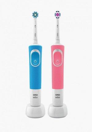 Комплект зубных щеток Oral B Vitality D190 DUO в подарочной упаковке, 2 шт.. Цвет: разноцветный